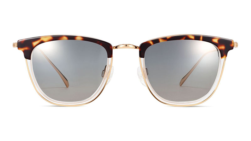 Warby Parker Devon Sunglasses in Layered Hazelnut Tortoise with Polished Gold $145
