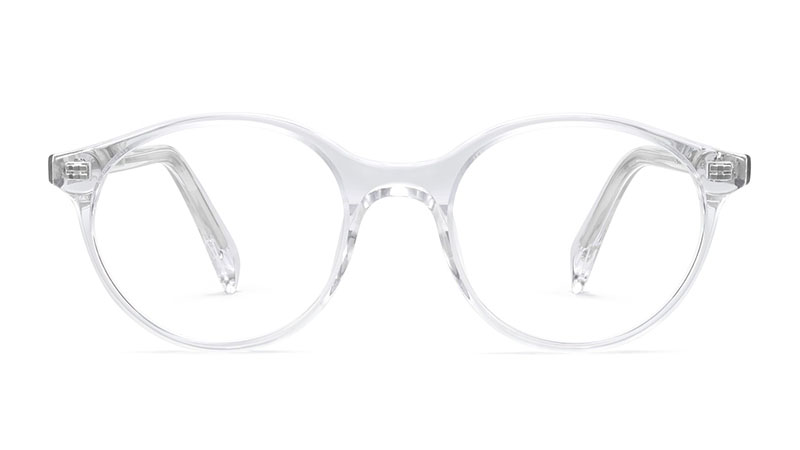Warby Parker Farris Narrow Glasses in Crystal $95