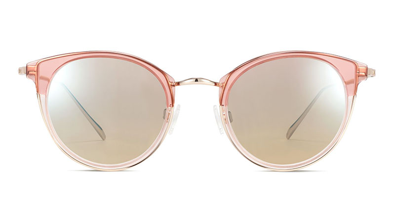 Warby Parker Faye Sunglasses in Layered Rose Quartz Crystal with Riesling $145