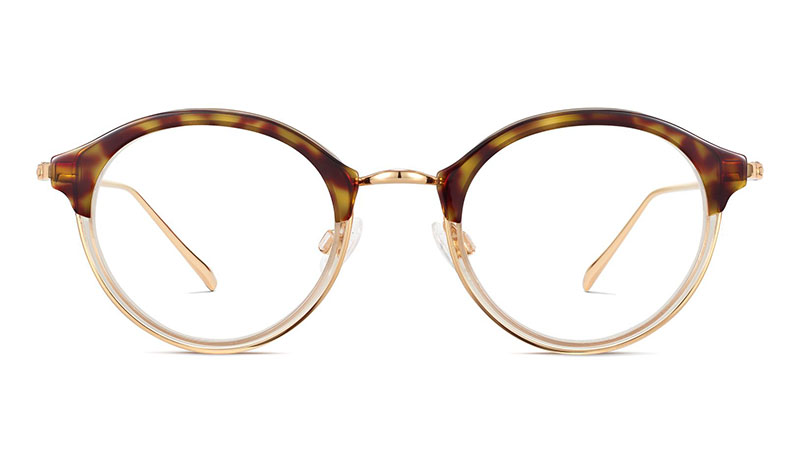 Warby Parker Saylor Glasses in Layered Cognac Tortoise with Polished Gold $145