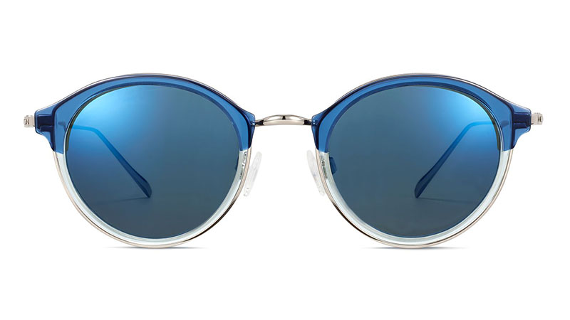 Warby Parker Saylor Sunglasses in Layered Shoreline Crystal with Polished Silver $145