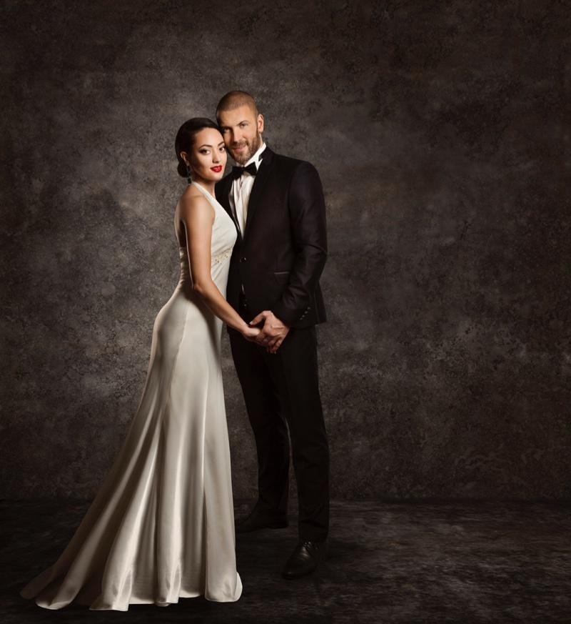 Wedding Look Bride Groom Dress Tuxedo Formal