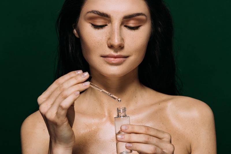 Woman Beauty Essential Oil Brunette