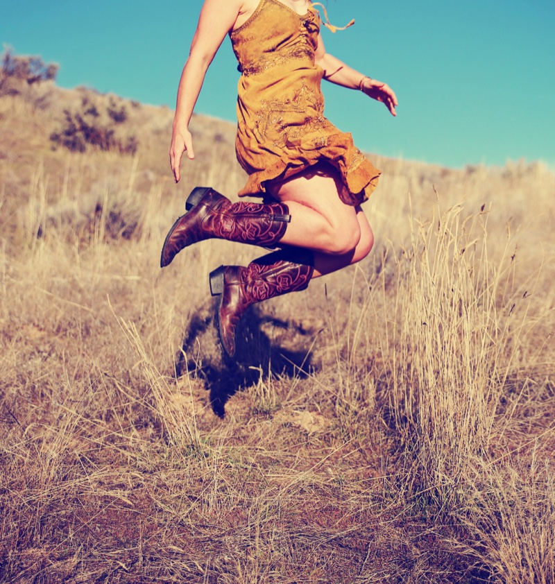 Woman Cowgirl Boots Dress