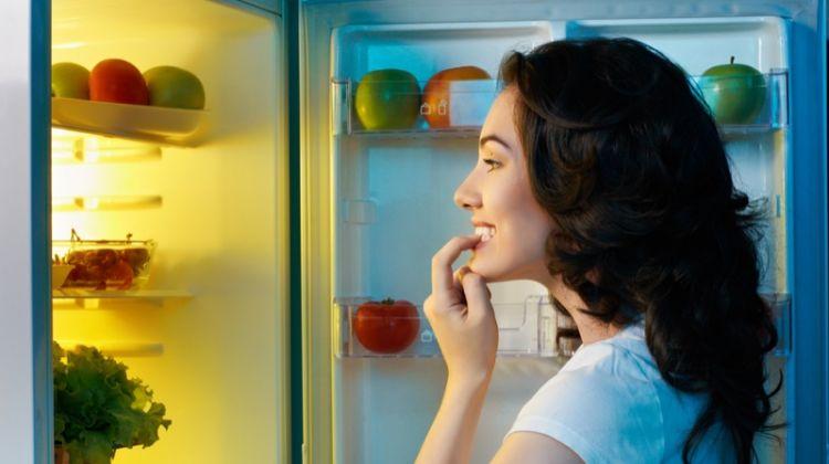 Woman Fridge Food Looking