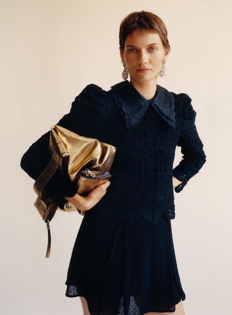 A Vision of Autumn: Karolin Wolter Models Knitwear Looks From Zara