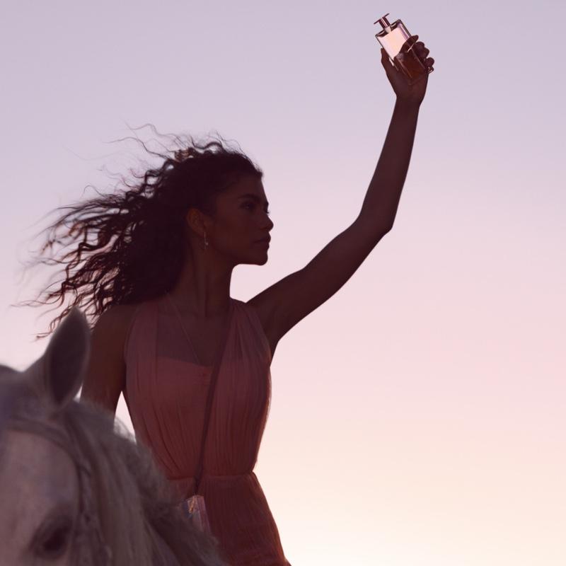 Actress Zendaya fronts Lancome Idole perfume advertising campaign
