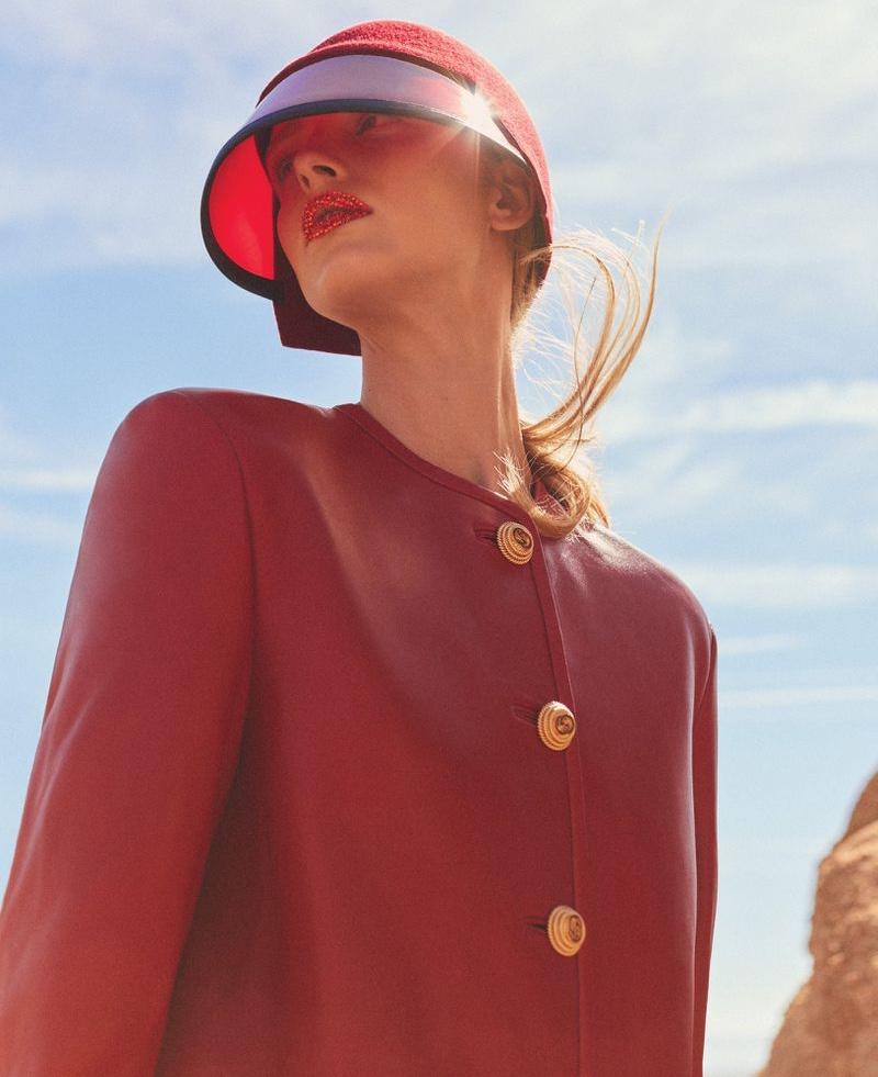 Abby Champion Wears Chic Autumn Looks for Harper's Bazaar