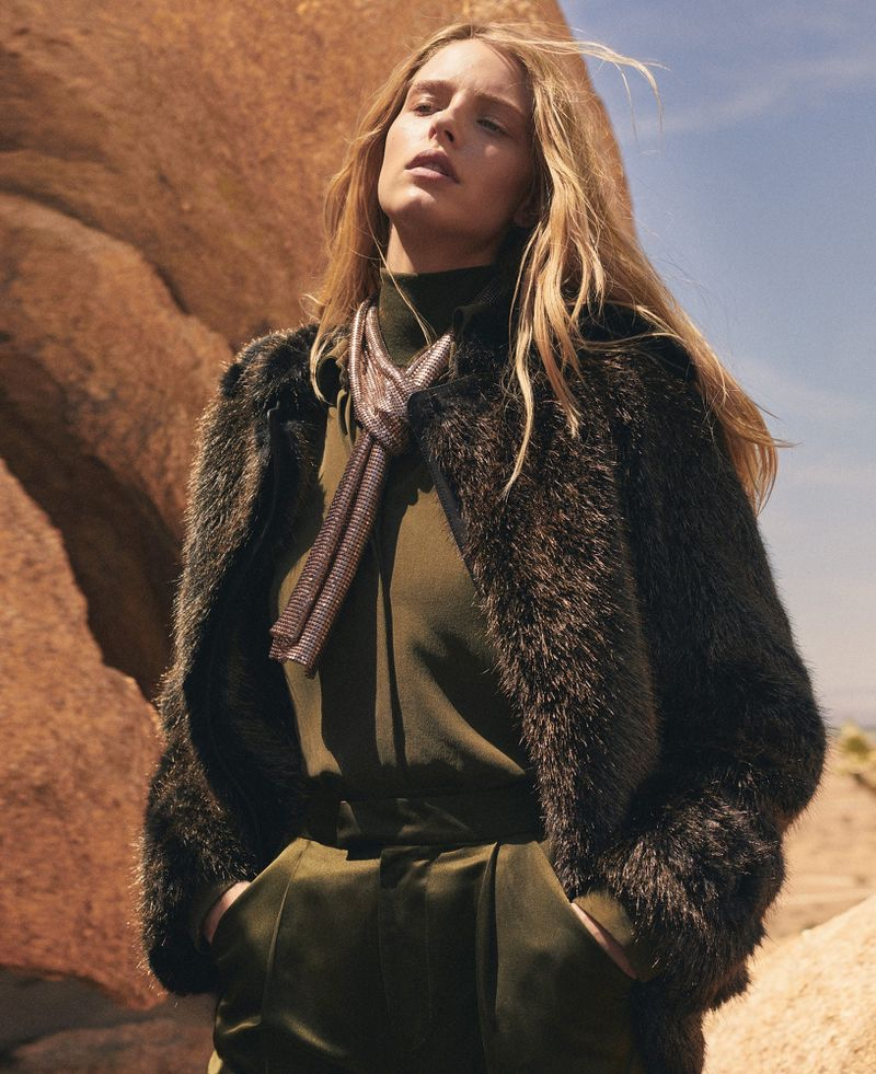 Abby Champion Wears Chic Autumn Looks for Harper's Bazaar