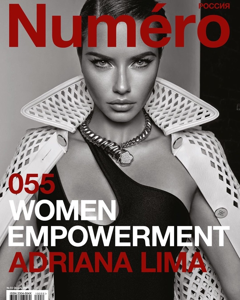 Adriana Lima Has a Glamorous Workout in Numero Russia