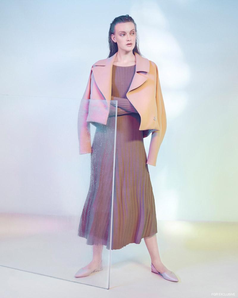 Jacket Bianca Spender, Dress & Shoes Zara. Photo: Milos Mlynarik