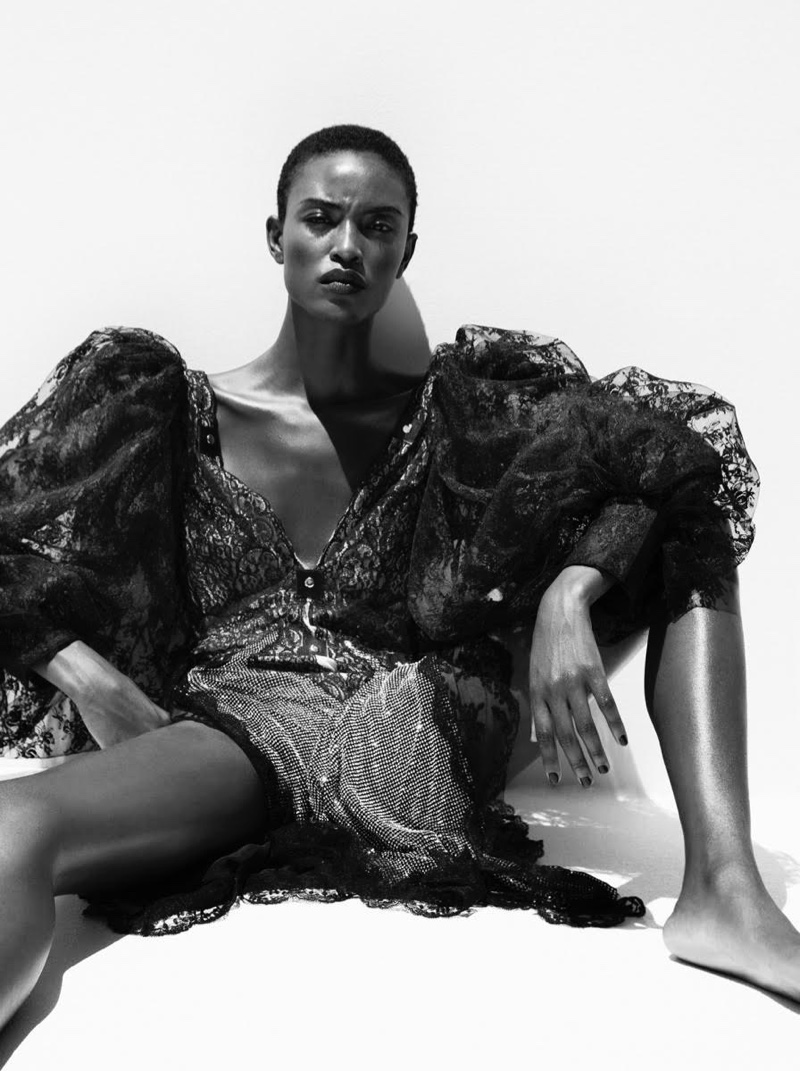 Alicia Burke Looks Lovely in Lace for Marie Claire
