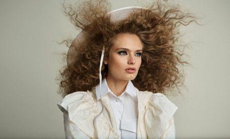Anna Mila Guyenz Models Hair-Raising Looks for Harper's Bazaar Spain