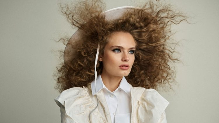 Anna Mila Guyenz Models Hair-Raising Looks for Harper's Bazaar Spain