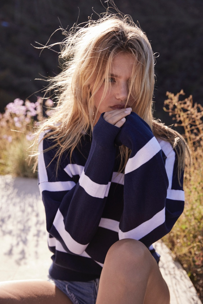 Auguste The Label features striped knits in Bonnie campaign
