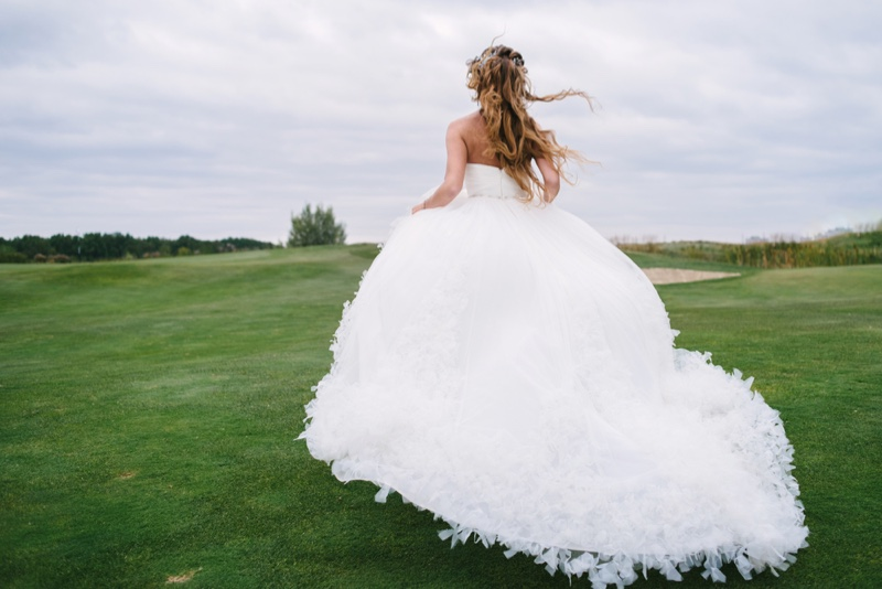 Back Wedding Dress Feathers