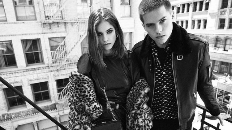 Model Barbara Palvin and actor Dylan Sprouse front The Kooples fall-winter 2019 campaign