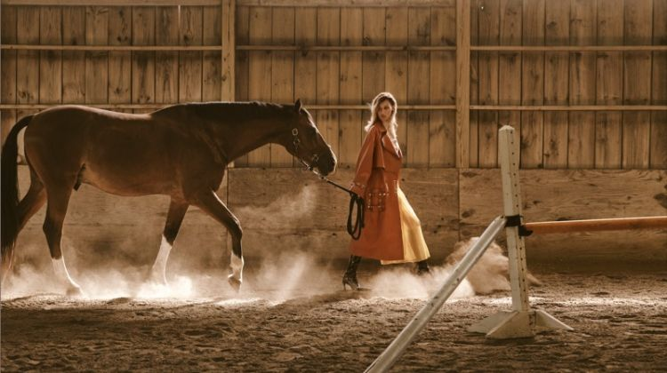 Bella Hadid Poses in Equestrian Styles for V Magazine