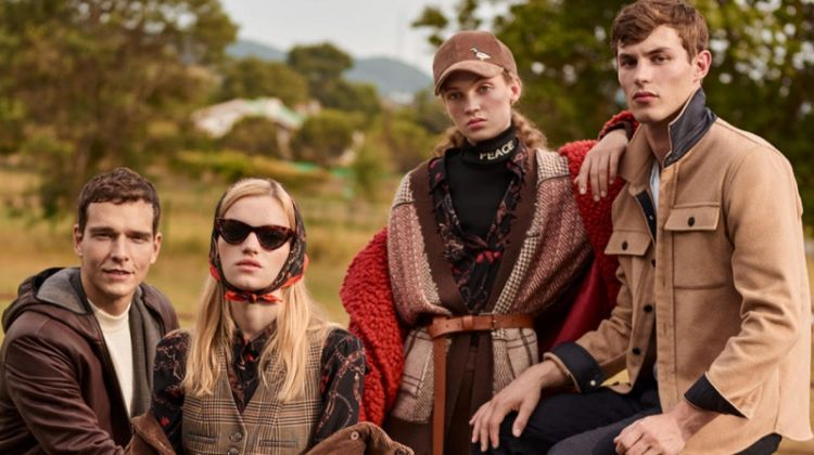 Eva Klimkova, Adrienne Juliger, Kit Butler and Alex Cunha appear in Beymen fall-winter 2019 campaign