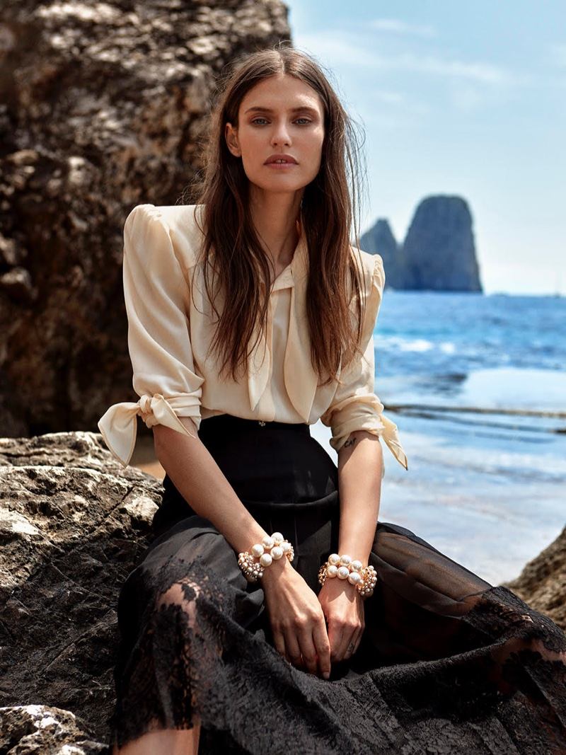 Bianca Balti Is a Sea Siren for Glamour Spain