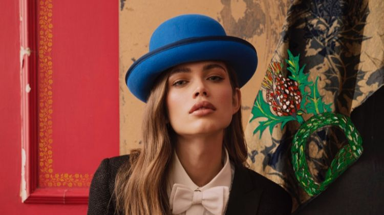 Valentina Sampaio stars in Borsalino fall-winter 2019 campaign