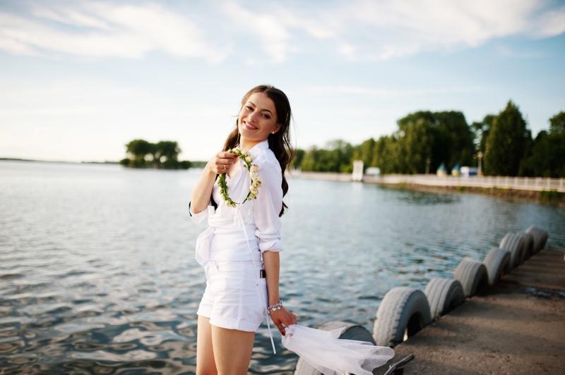 Bridal Shorts White Look