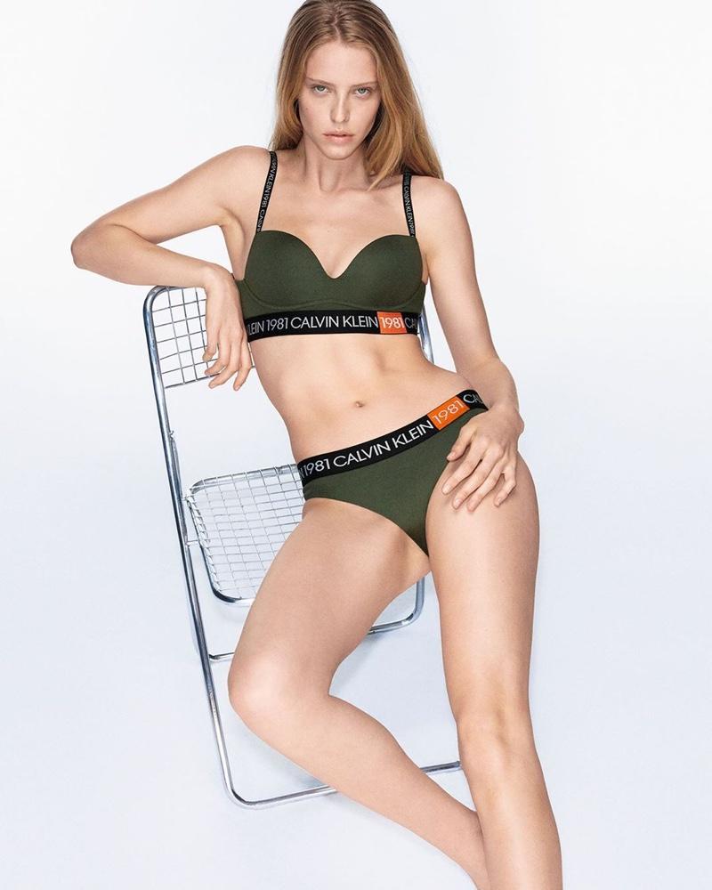 Model Abby Champion strips down for Calvin Klein Underwear fall-winter 2019 campaign