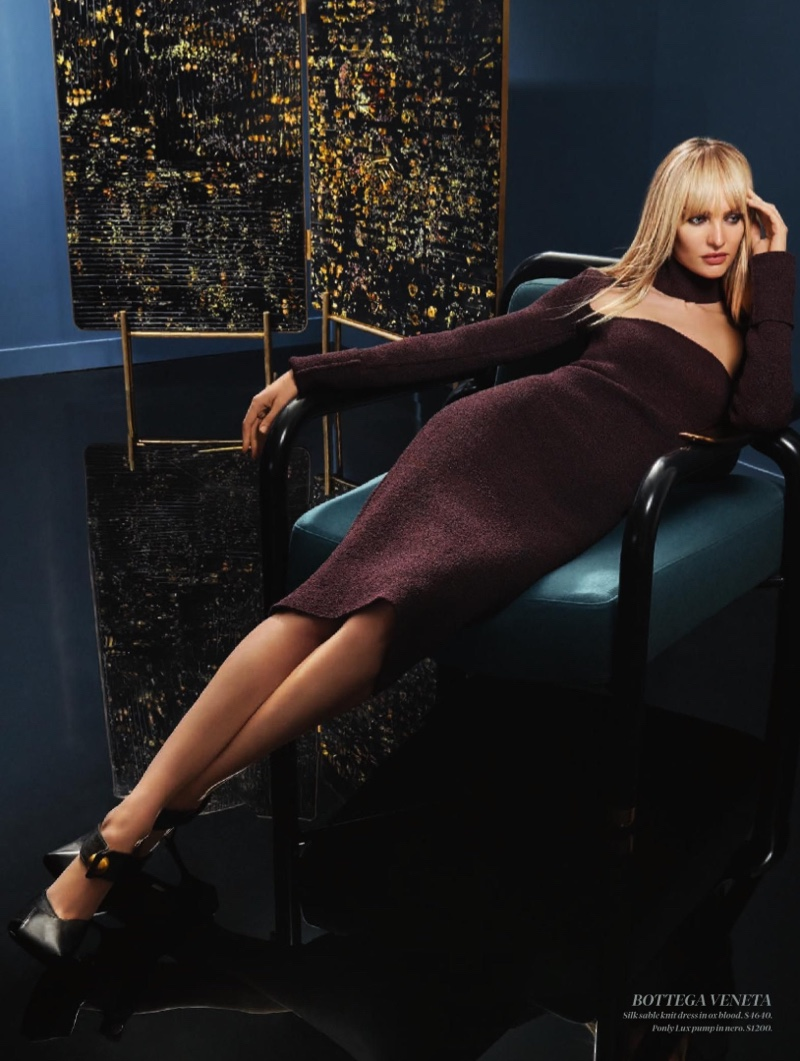 Candice Swanepoel Poses in Sleek Styles for Holt Renfrew Magazine