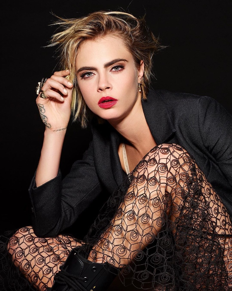 Cara Delevingne Gets Her Closeup in Dior Makeup Shoot