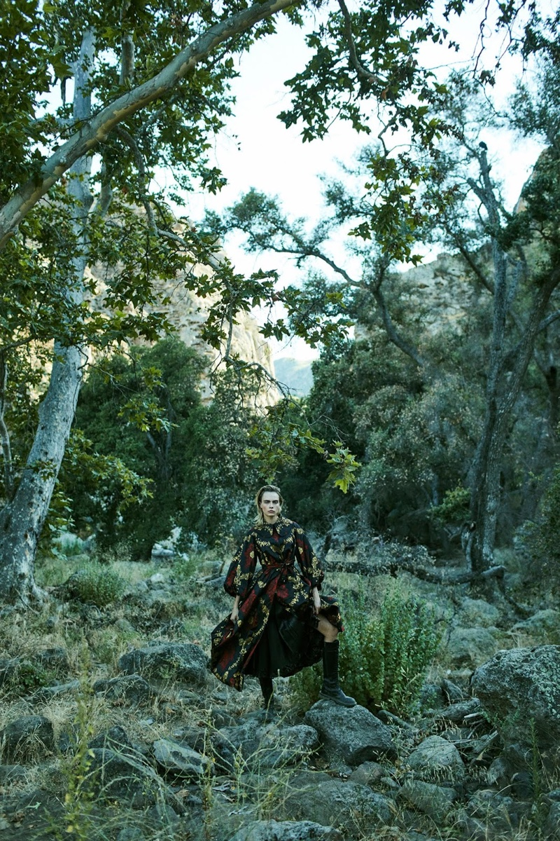 Cara Delevingne Goes Into The Woods for PORTER Edit