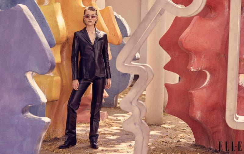 Caroline Lossberg Models Elegant Styles for ELLE Serbia
