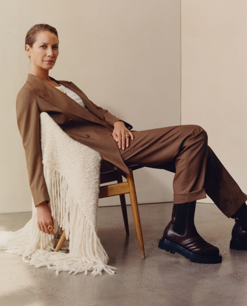 Suiting up, Christy Turlington appears in MATCHESFASHION fall-winter 2019 campaign