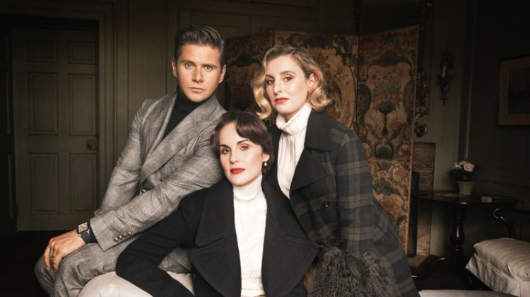 'Downton Abbey' Stars Michelle Dockery & Laura Carmichael Pose for Town & Country