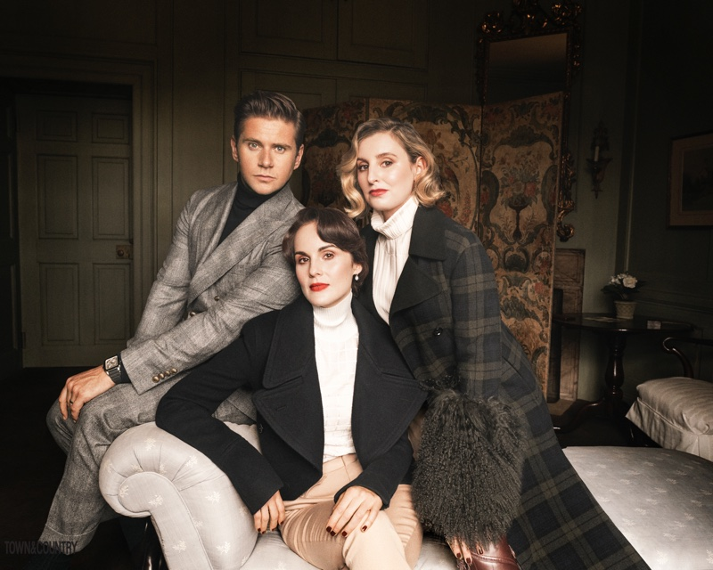 'Downton Abbey' stars Allen Leech, Michelle Dockery and Laura Carmichael embrace elegant looks