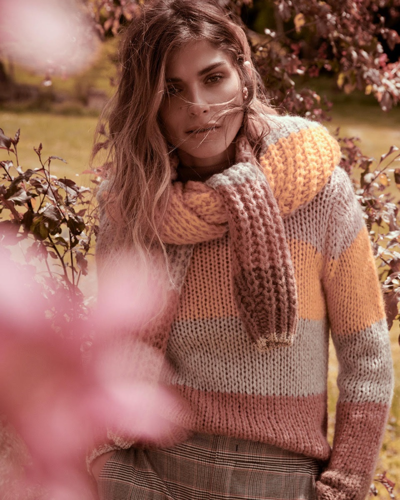 Model Elisa Sednaoui appears in Oui fall-winter 2019 campaign