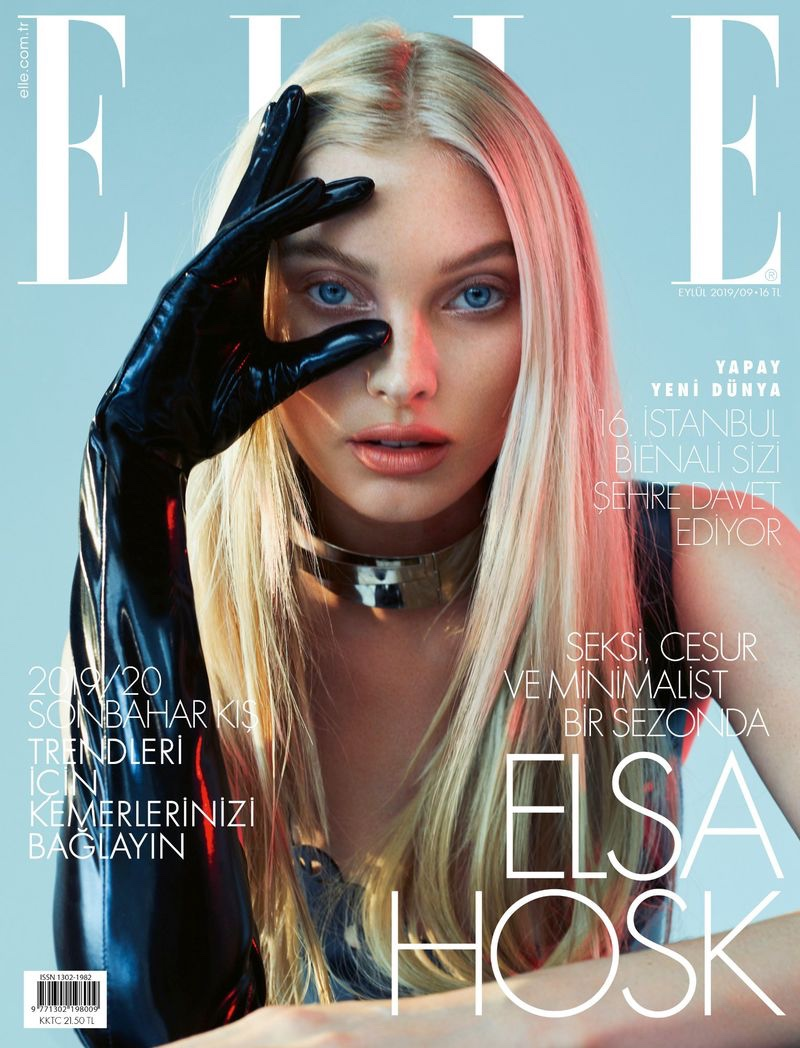Elsa Hosk on ELLE Turkey September 2019 Cover