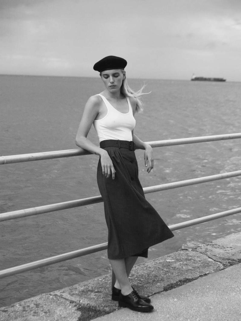 Erika Linder Poses in Seaside Looks for PORTER Edit