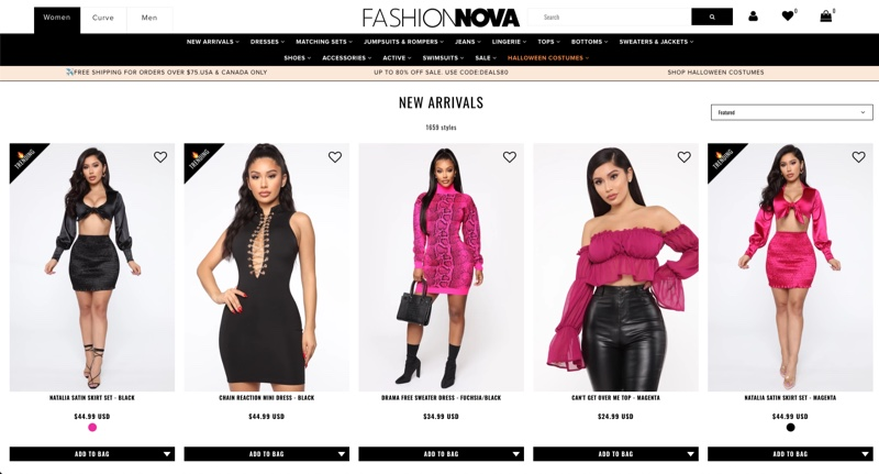 Fashion Nova website