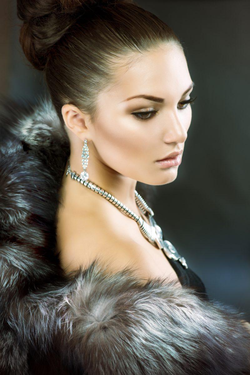 Fur Coat Beauty Image