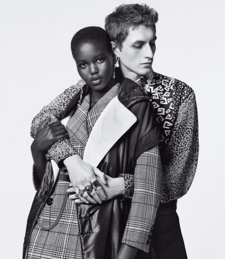 Adut Akech and Henry Kitcher star in Givenchy Winter of Eden fall-winter 2019 campaign