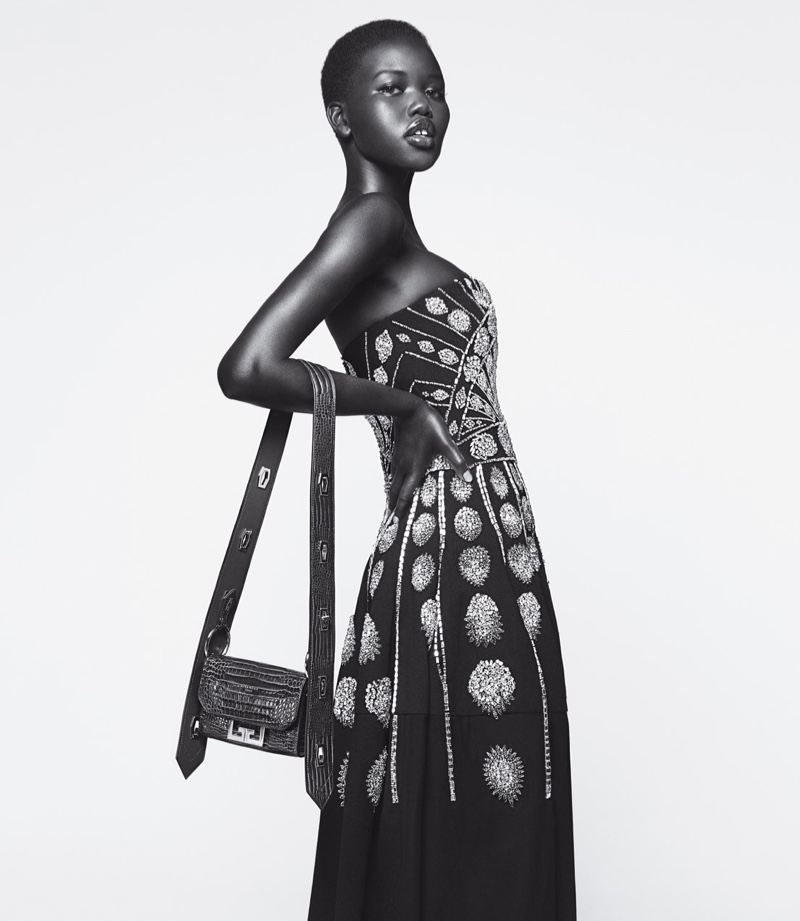 Model Adut Akech appears in Givenchy Winter of Eden fall-winter 2019 campaign