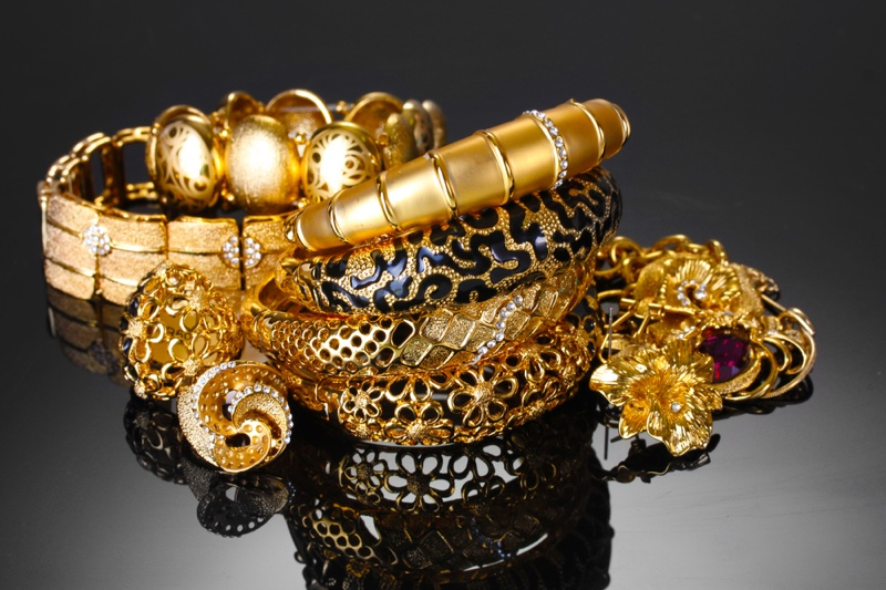 Gold Jewelry Bracelets Ring Glamour