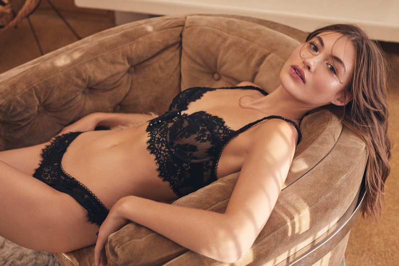 Grace Elizabeth stars in For Love & Lemons x Victoria's Secret campaign