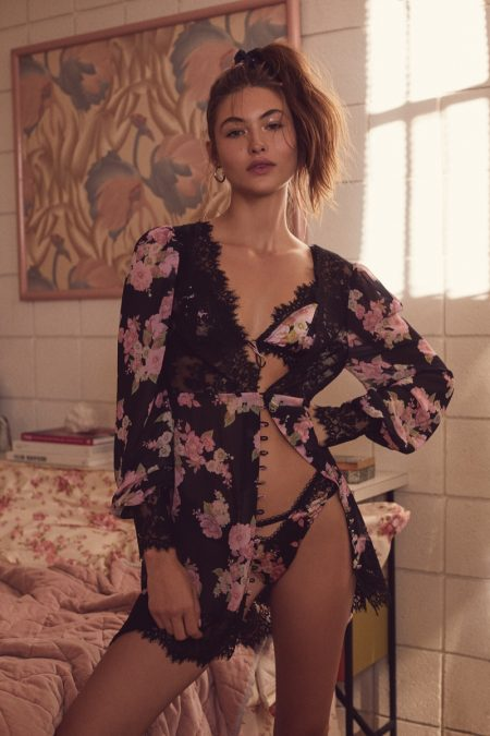 Grace Elizabeth Sizzles in For Love & Lemons x Victoria's Secret Lingerie
