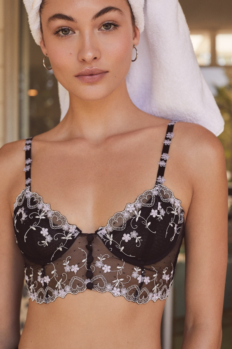 Grace Elizabeth appears in For Love & Lemons x Victoria's Secret lingerie campaign
