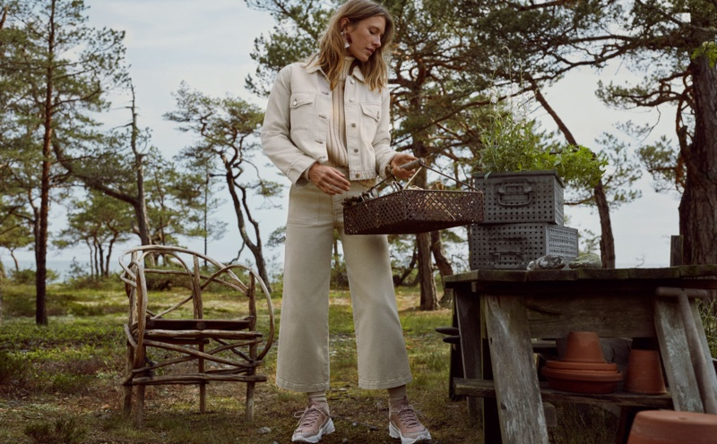 Sophie Strobele stars in H&M Conscious Denim fall 2019 campaign