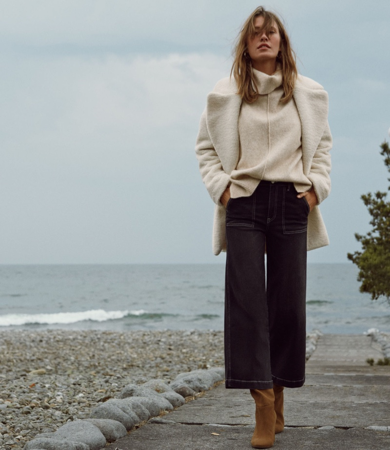 Sophie Strobele layers up in H&M Conscious Denim fall 2019 designs