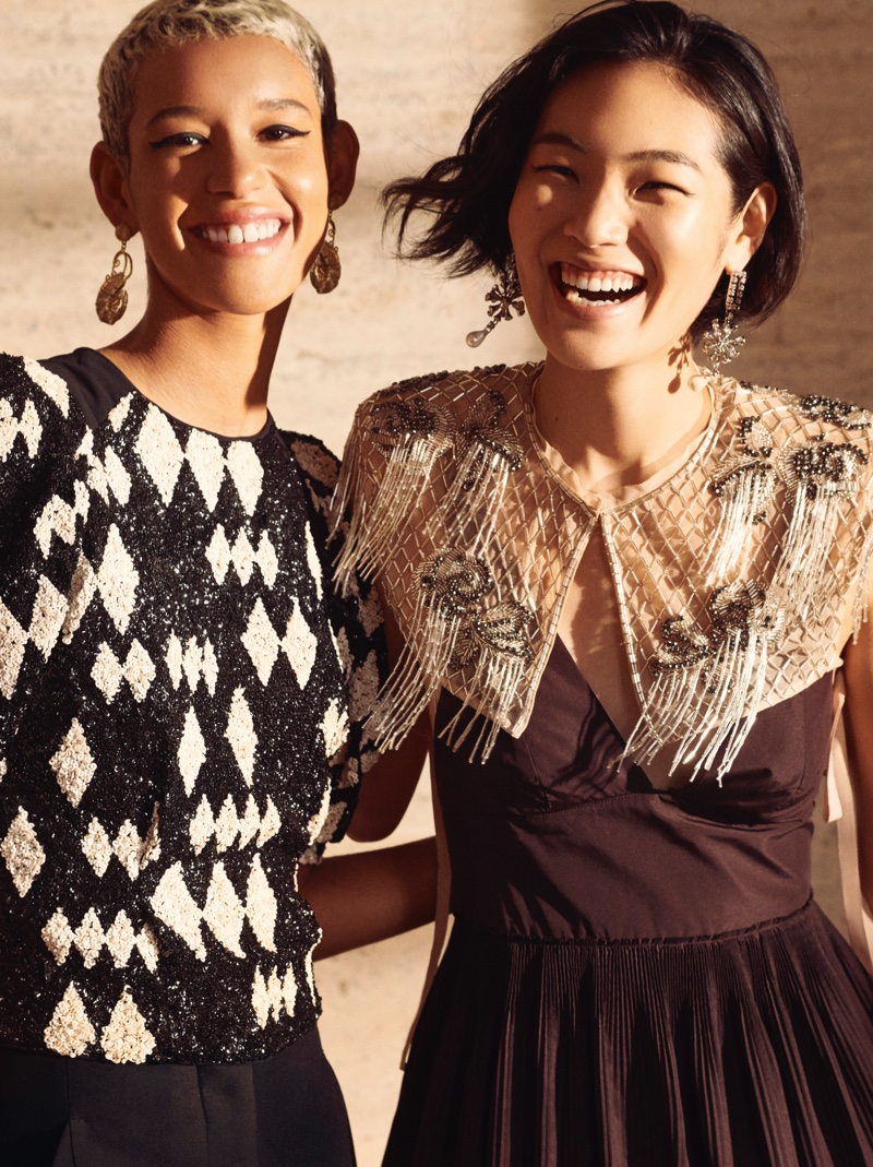 Dilone and Chiharu Okunugi appear in H&M Conscious Exclusive fall-winter 2019 campaign