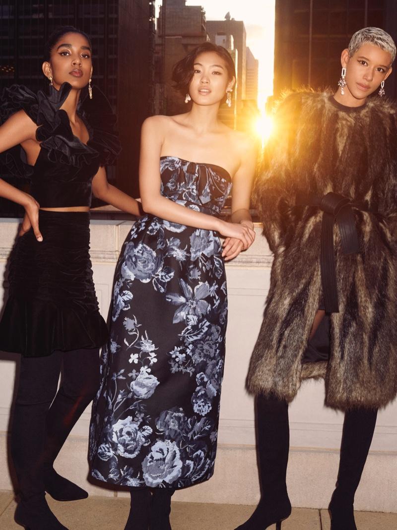 Naomi Janumala, Chiharu Okunugi and Dilone star in H&M Conscious Exclusive fall-winter 2019 campaign