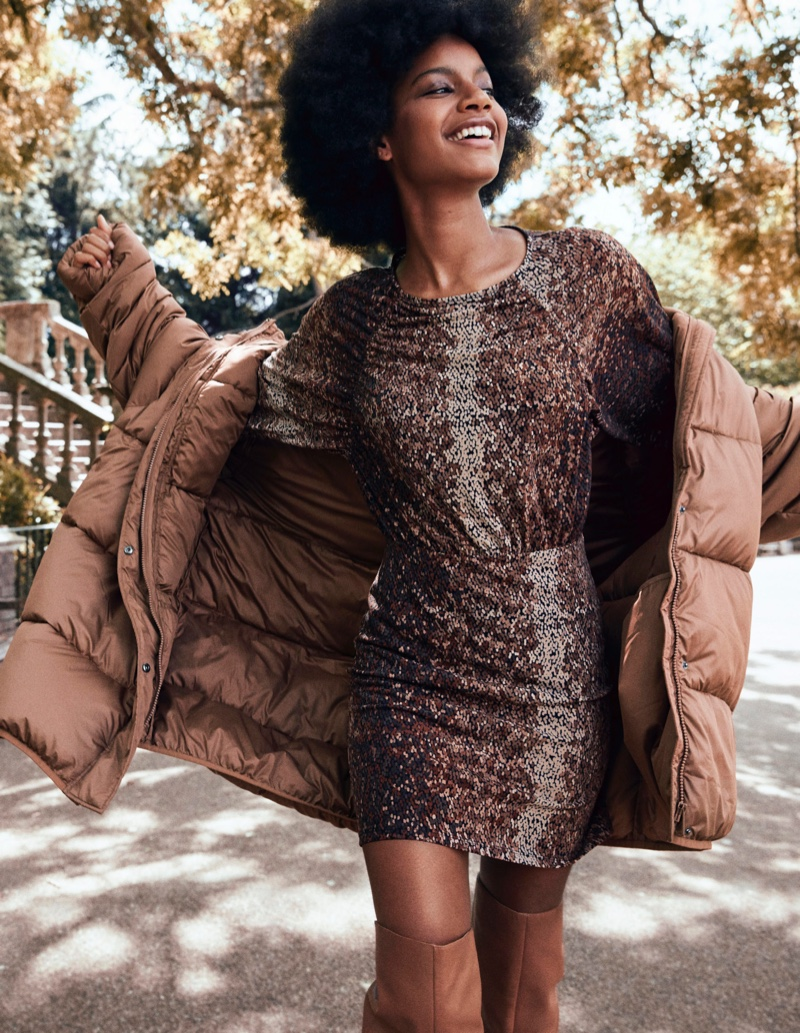 Ebonee Davis fronts H&M Conscious fall-winter 2019 campaign